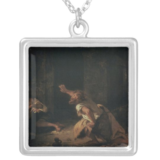 The Prisoner of Chillon, 1834 Silver Plated Necklace