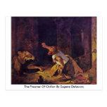 The Prisoner Of Chillon By Eugene Delacroix Post Cards