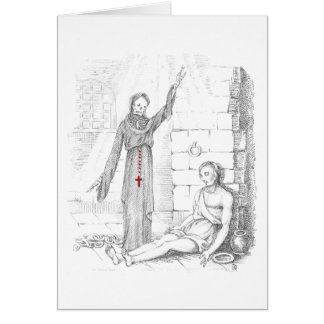 The Prisoner Visited by Death in His Cell Card