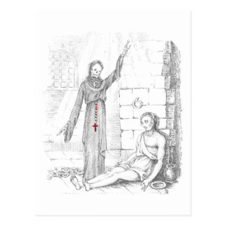 The Prisoner Visited by Death in His Cell Postcard