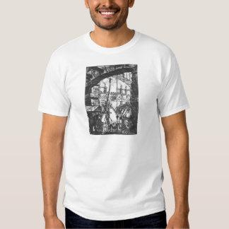 The Prisons (plate IV) by Giovanni Battista Pirane T-Shirt