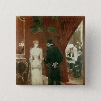The Private Conversation, 1904 Button