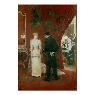 The Private Conversation, 1904 Poster