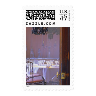The private dining room with the black crystal postage