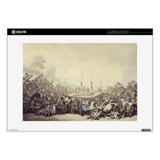 """The Prize Fight, 1787 (pen, ink and w/c over graph 15"""" Laptop Skins"""
