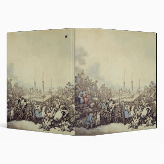 The Prize Fight, 1787 (pen, ink and w/c over graph 3 Ring Binders