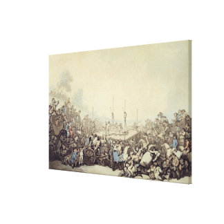 The Prize Fight, 1787 (pen, ink and w/c over graph Canvas Print