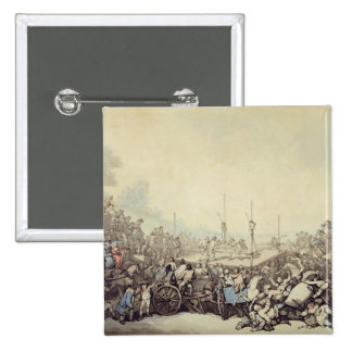 The Prize Fight, 1787 (pen, ink and w/c over graph Pinback Button