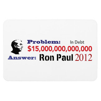 The Problem is Debt The Solution is Ron Paul 2012 Magnet