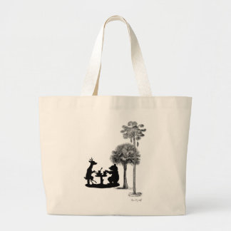 The problem with bears. large tote bag