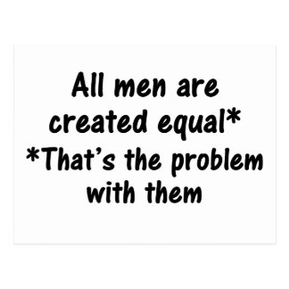The problem with men 2 postcard