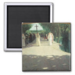 The Procession, 1892-95 2 Inch Square Magnet