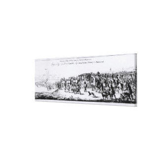The Procession of Charles II Canvas Print