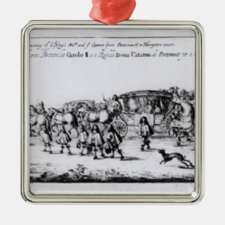 The Procession of Charles II Metal Ornament