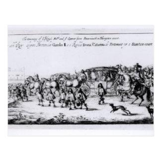 The Procession of Charles II Postcard