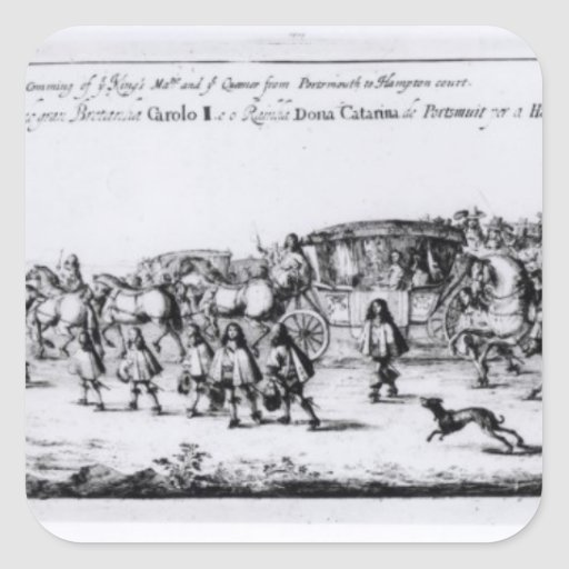 The Procession of Charles II Square Sticker