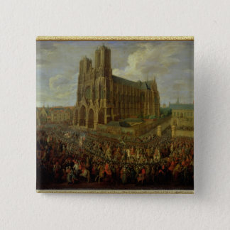 The procession of King Louis XV Pinback Button