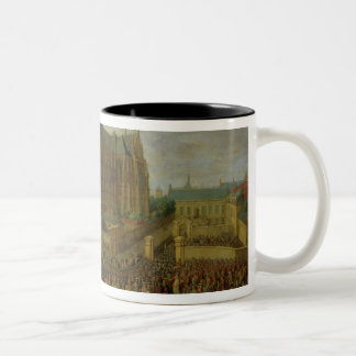 The procession of King Louis XV Two-Tone Coffee Mug