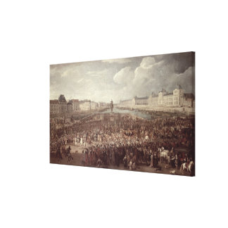 The Procession of Louis XIV (1638-1715) across the Canvas Print