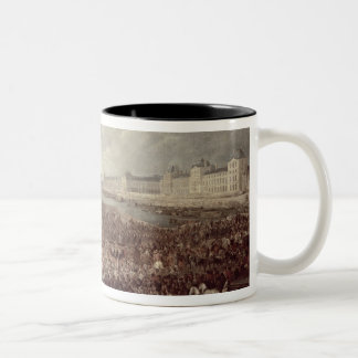 The Procession of Louis XIV (1638-1715) across the Two-Tone Coffee Mug