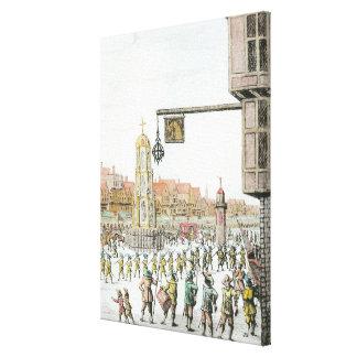 The Procession of Marie de Medici along Canvas Print