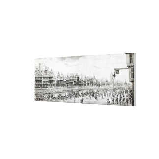 The Procession of Marie de Medici along Canvas Print