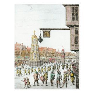 The Procession of Marie de Medici along Postcard