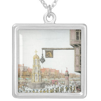 The Procession of Marie de Medici along Silver Plated Necklace