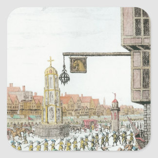 The Procession of Marie de Medici along Square Sticker