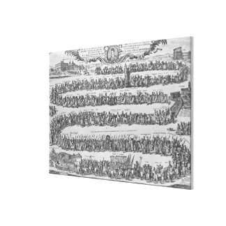 The Procession of Pope Innocent XII Canvas Print