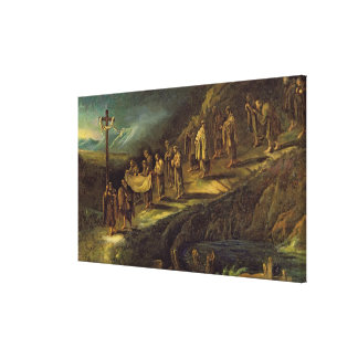 The Procession of the Holy Shroud Canvas Print