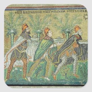 The procession of the three kings square sticker