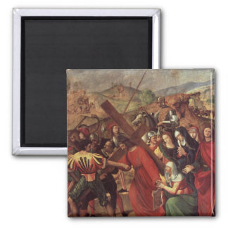 The Procession to Calvary, c.1505 2 Inch Square Magnet