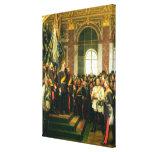 The Proclamation of Wilhelm as Kaiser Canvas Print