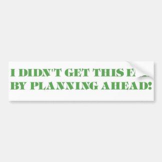 The Procrastinator Bumper Sticker