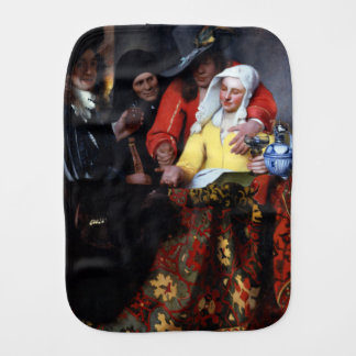 The Procuress by Johannes Vermeer Baby Burp Cloth