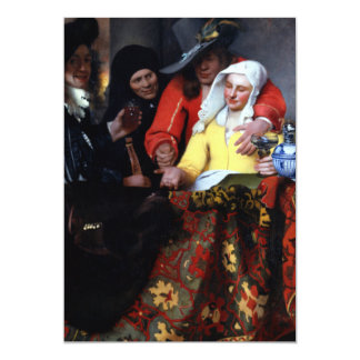 The Procuress by Johannes Vermeer Card