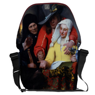 The Procuress by Johannes Vermeer Courier Bag