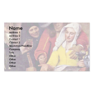The Procuress,  By Johannes Vermeer Double-Sided Standard Business Cards (Pack Of 100)