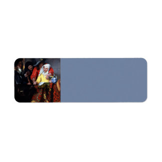 The Procuress by Johannes Vermeer Labels