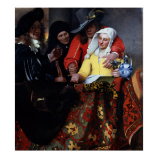 The Procuress by Johannes Vermeer Poster