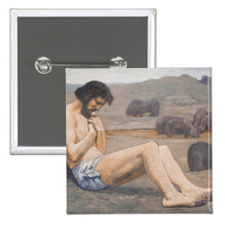 The Prodigal Son, c. 1879 (oil on linen) 2 Inch Square Button