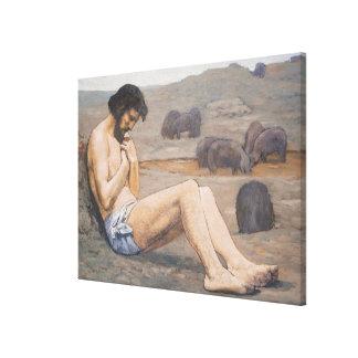 The Prodigal Son, c. 1879 (oil on linen) Canvas Print