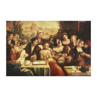 The Prodigal Son Feasting with Harlots Canvas Print
