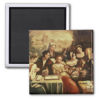 The Prodigal Son Feasting with Harlots 2 Inch Square Magnet
