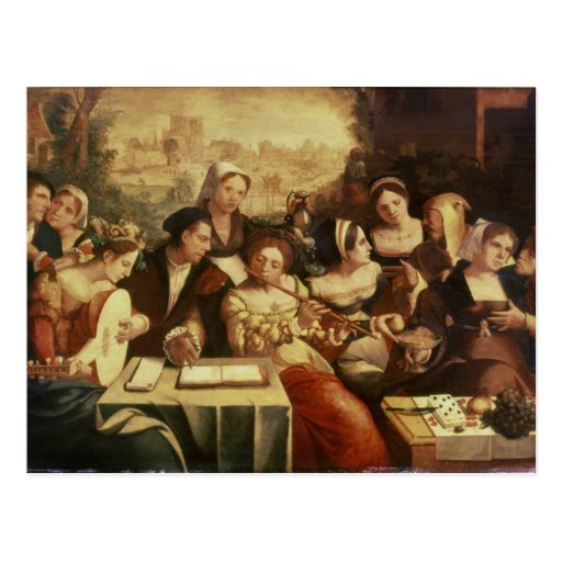 The Prodigal Son Feasting with Harlots Postcard