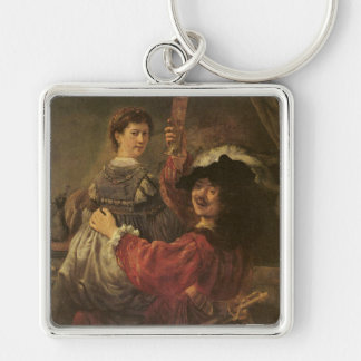 'The Prodigal Son in a Tavern' Keychain