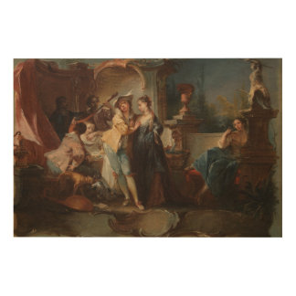 The Prodigal Son Living with Harlots. Wood Wall Art