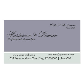 The Professional Associate Blue Clasic Appointment Business Card
