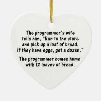 The Programmer and His Wife - Second in a series Ceramic Ornament